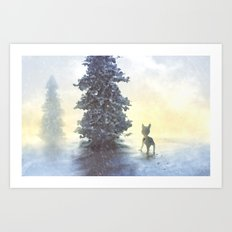 lonely holiday Art Print