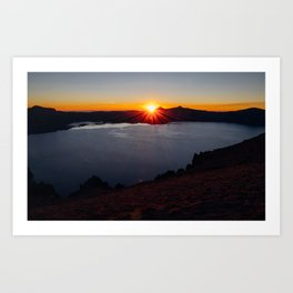 Eye of the Crater Art Print