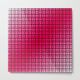 Raspberry Ice Woven Metal Print