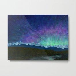 Arctic Aura - Painting Metal Print