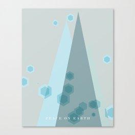 Modern  Trees Color Blue Canvas Print