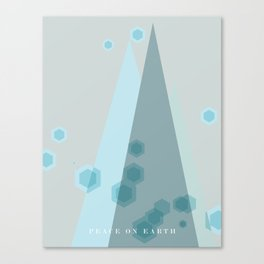 Modern  Trees Color Blue Canvas Print