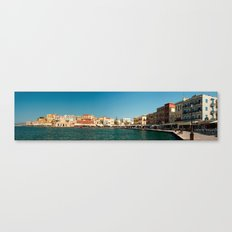 Chania Harbor Canvas Print