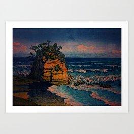 Bathing in Sunset Art Print