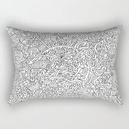 Circle of doodle Rectangular Pillow