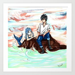 Gruvia Mermaid Art Print