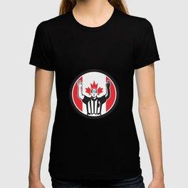 Canadian Football Referee Canada Flag Icon T-shirt