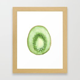 Watercolor Kiwi Framed Art Print