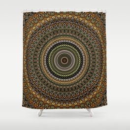 Fractal Kaleido Study 001 in CMR Shower Curtain