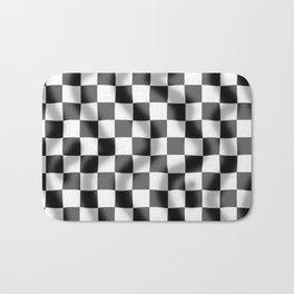 Chequered Flag Slight Ripple Bath Mat