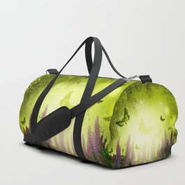 """""""Forest, flowers and butterflies"""" Duffle Bag"""