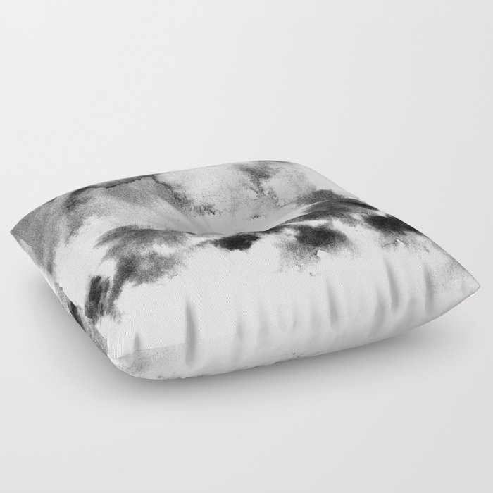 MINIMAL BLACK AND WHITE SPLATTER PATTERN Floor Pillow