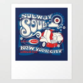 Soul Scoot Subway Soul by Dawn Carrington Art Print