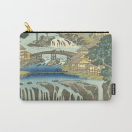 Utagawa Hiroshige - Izu Province Hot Springs At Shuzen Temple - Vintage Japanese Woodblock Print Art Carry-All Pouch