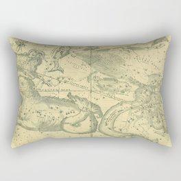 Antique Celestial Map December November October Rectangular Pillow