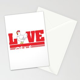 Are you Chicken Lover? Here's a cute t-shirt design with a cute illustration of a  Hen Chick Rooster Stationery Cards
