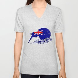 Australian Flag - Kiwi Bird Unisex V-Neck