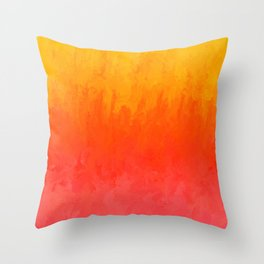 Coral, Guava Pink Abstract Gradient Throw Pillow