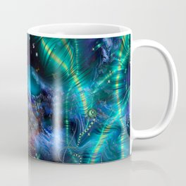 Cosmic Abstract Emerald Coffee Mug