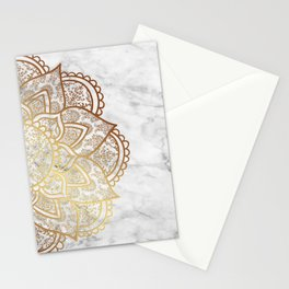 Mandala - Gold & Marble Stationery Cards