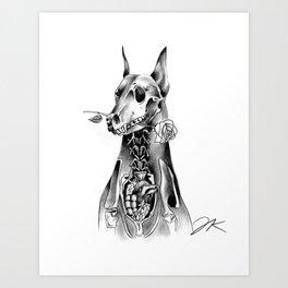 Doberman Art Print