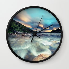 Lenticular Riverscape Wall Clock