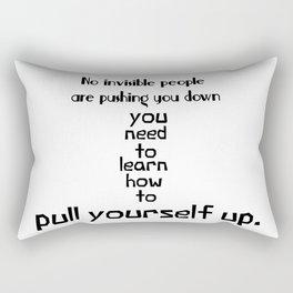 Pull Yourself Up Rectangular Pillow