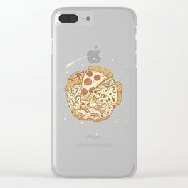 Pizza World Clear iPhone Case