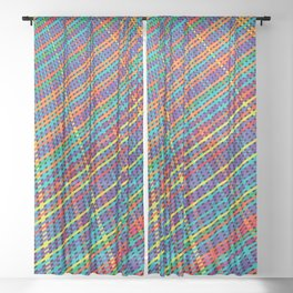 Abstract Deep In Stripe Sheer Curtain