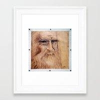 da vinci Framed Art Prints featuring Leonardo Da Vinci by Michael Cu Fua