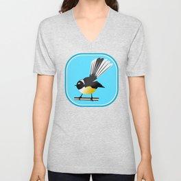 Fantail NZ BIRD Unisex V-Neck