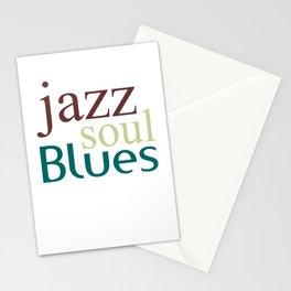 Jazz,soul,blues Stationery Cards