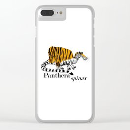Panthera spinax Clear iPhone Case