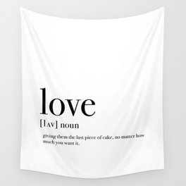 Definition of love Wall Tapestry