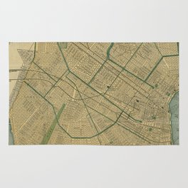 Vintage Map of New Orleans Louisiana (1893) Rug