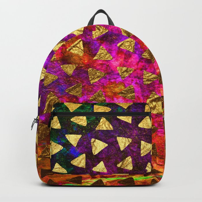 Triangles golden foil Backpack
