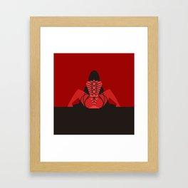 shibari bondage girl Framed Art Print