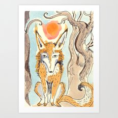Whimsical Fox Art Print