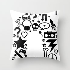 makin it rain Throw Pillow