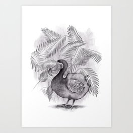 Last one of the Dodos - jungle print Art Print