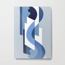 SUISSE - Art Deco Modern: BLUE MONDAY Metal Print