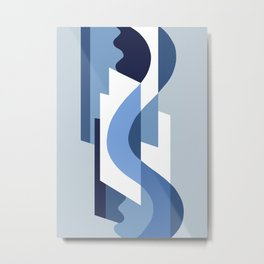 SUISSE - Art Deco Modern: BLUE MONDAY Metal Print