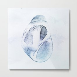 Bargara Shell Three Blue Metal Print