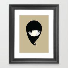 Black Drop Framed Art Print