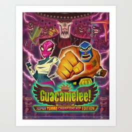Guacamelee! Super Turbo Championship Edition Art Print
