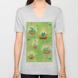 Cacti Terrariums Unisex V-Neck