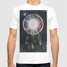 Dream Catcher White Mens Fitted Tee MEDIUM