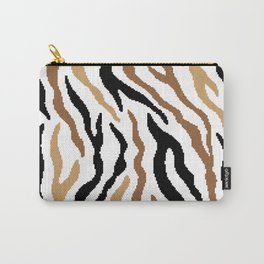 8 bit Zebra stripes pattern. Digital illustration. Carry-All Pouch