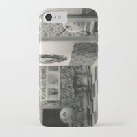 tim burton iPhone & iPod Cases featuring Hanging a painting fail - tim burton by PaperTigress