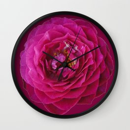 """BLUE YONDER"" MAGENTA ROSE  MAGENTA COLOR ART Wall Clock"